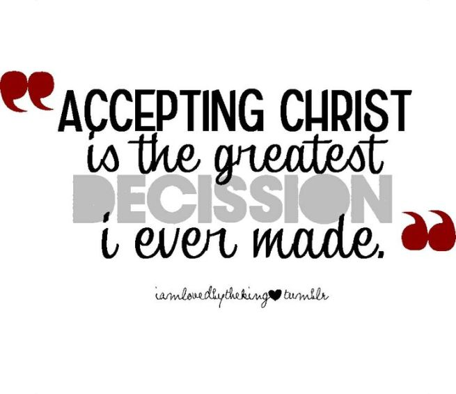 Decision to Accept Christ